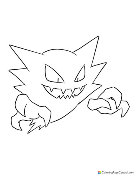 Pokemon – Haunter Coloring Page