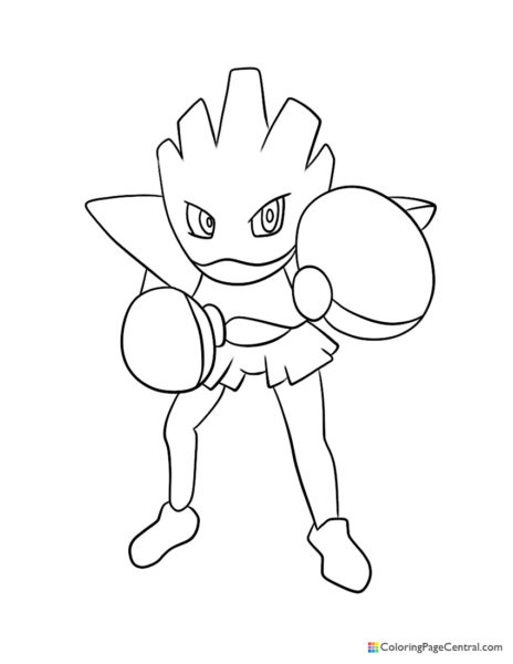 Pokemon – Hitmonchan Coloring Page