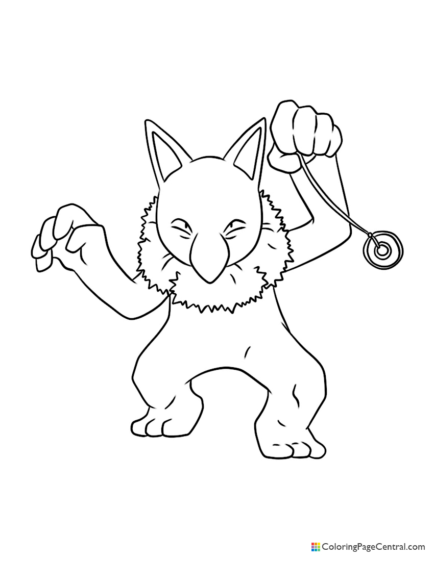 Pokemon - Hypno Coloring Page