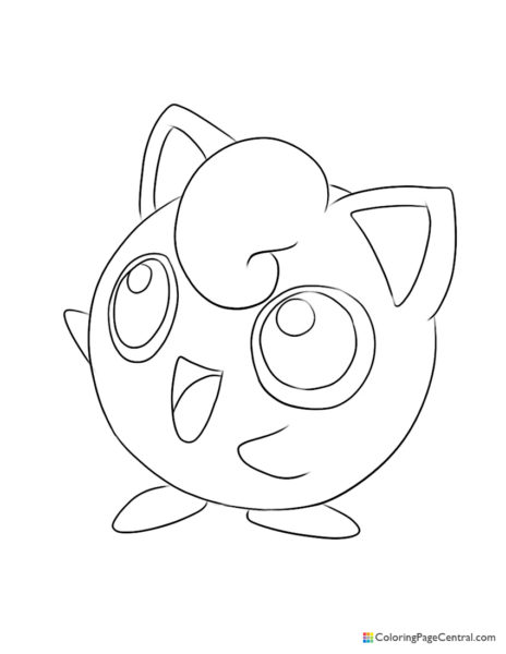 Pokemon – Jigglypuff 02 Coloring Page