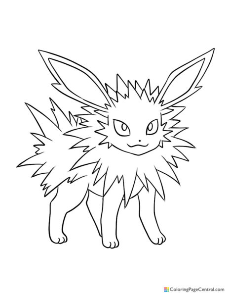 Pokemon – Jolteon Coloring Page