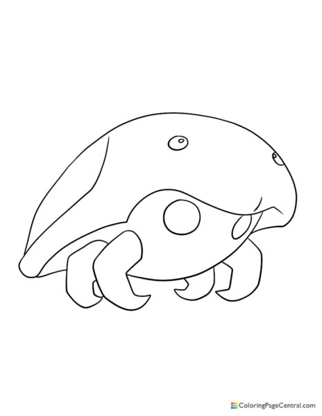 Pokemon – Kabuto Coloring Page