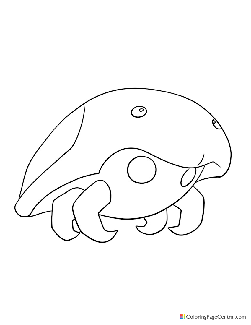 Pokemon - Kabuto Coloring Page