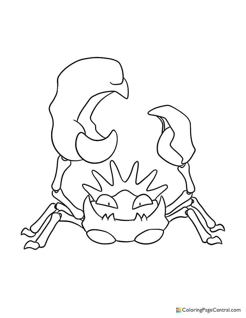 Pokemon - Kingler Coloring Page