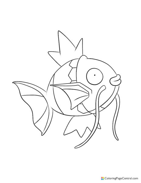 Pokemon - Magikarp Coloring Page