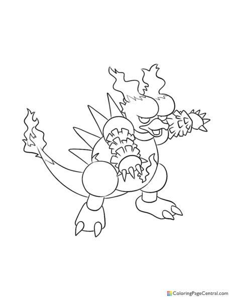 Pokemon – Magmar Coloring Page