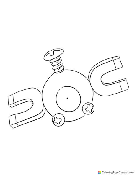 Pokemon – Magnemite Coloring Page