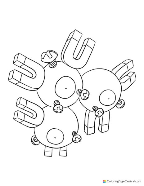 Pokemon – Magneton Coloring Page