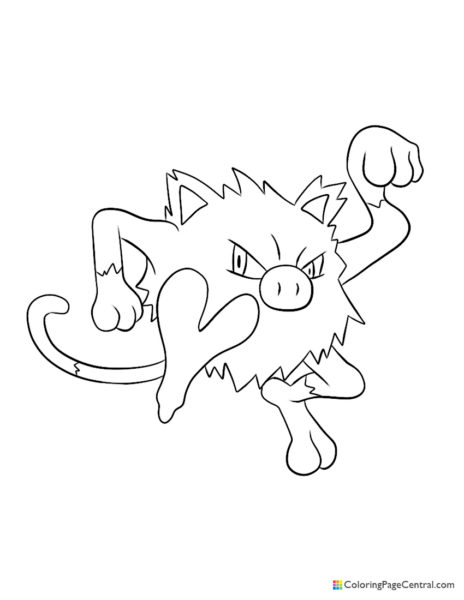 Pokemon - Mankey Coloring Page