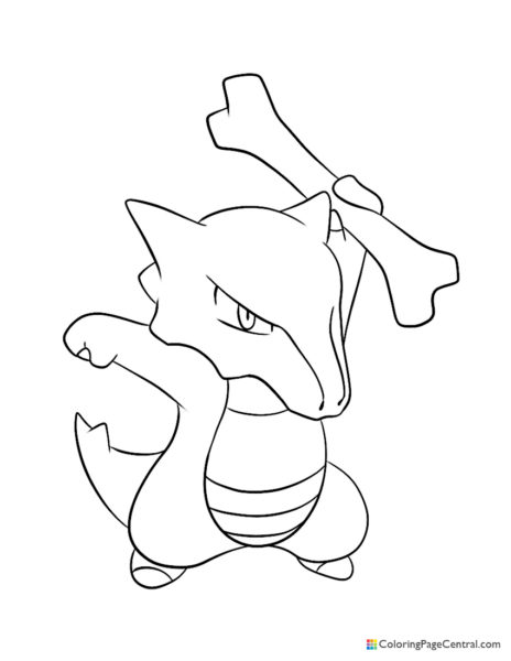 Pokemon – Marowak Coloring Page