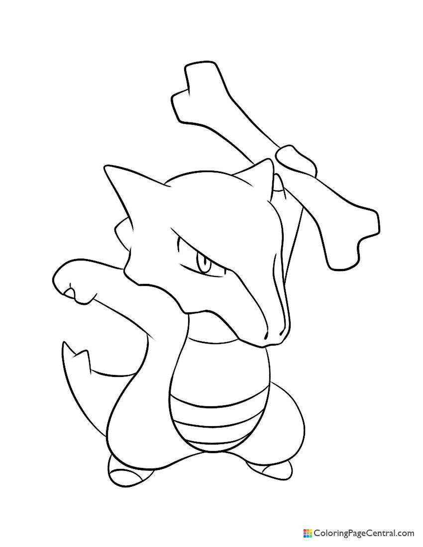 Pokemon - Marowak Coloring Page