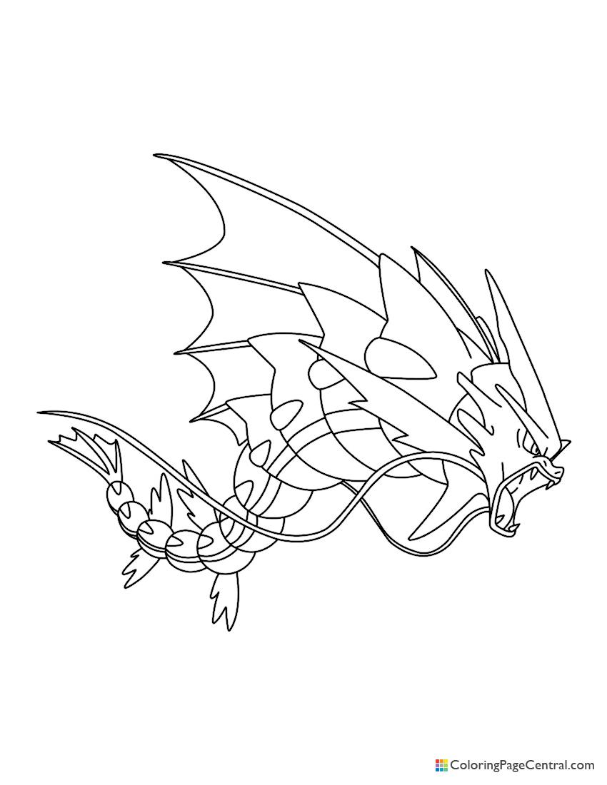 Pokemon - Mega Gyarados Coloring Page