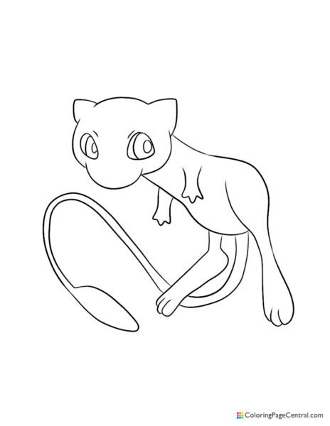 Pokemon – Mew Coloring Page
