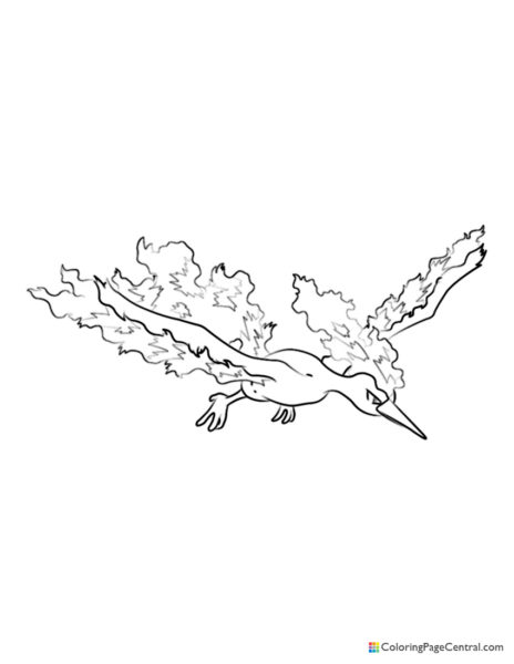 Pokemon - Moltres 02 Coloring Page