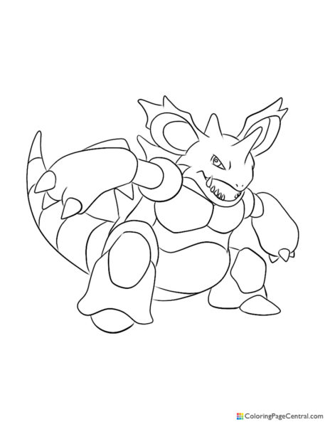 Pokemon – Nidoking Coloring Page