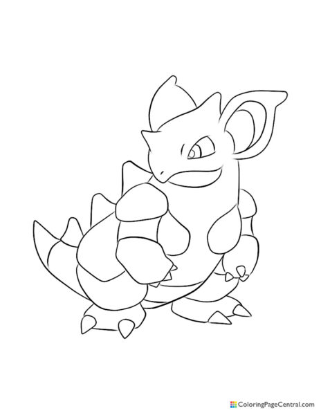 Pokemon – Nidoqueen Coloring Page