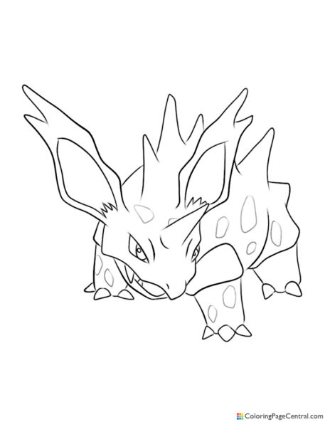 Pokemon – Nidorino Coloring Page
