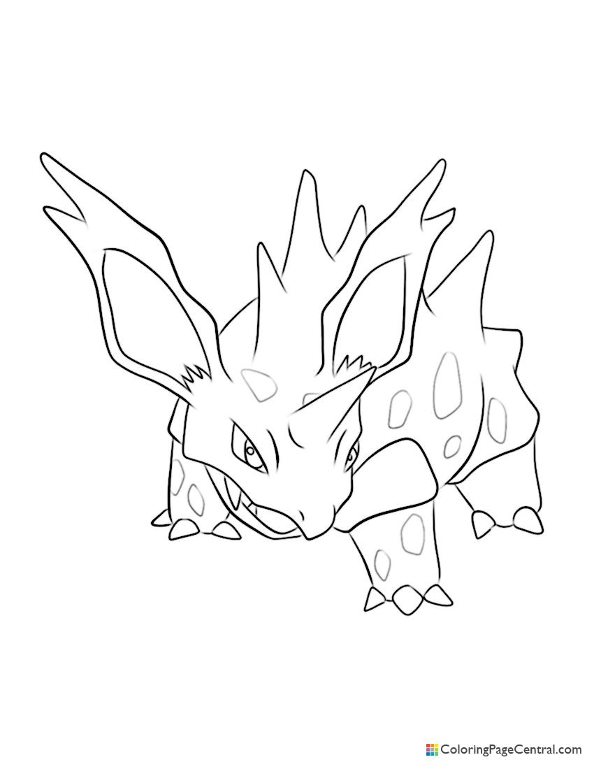 Pokemon - Nidorino Coloring Page
