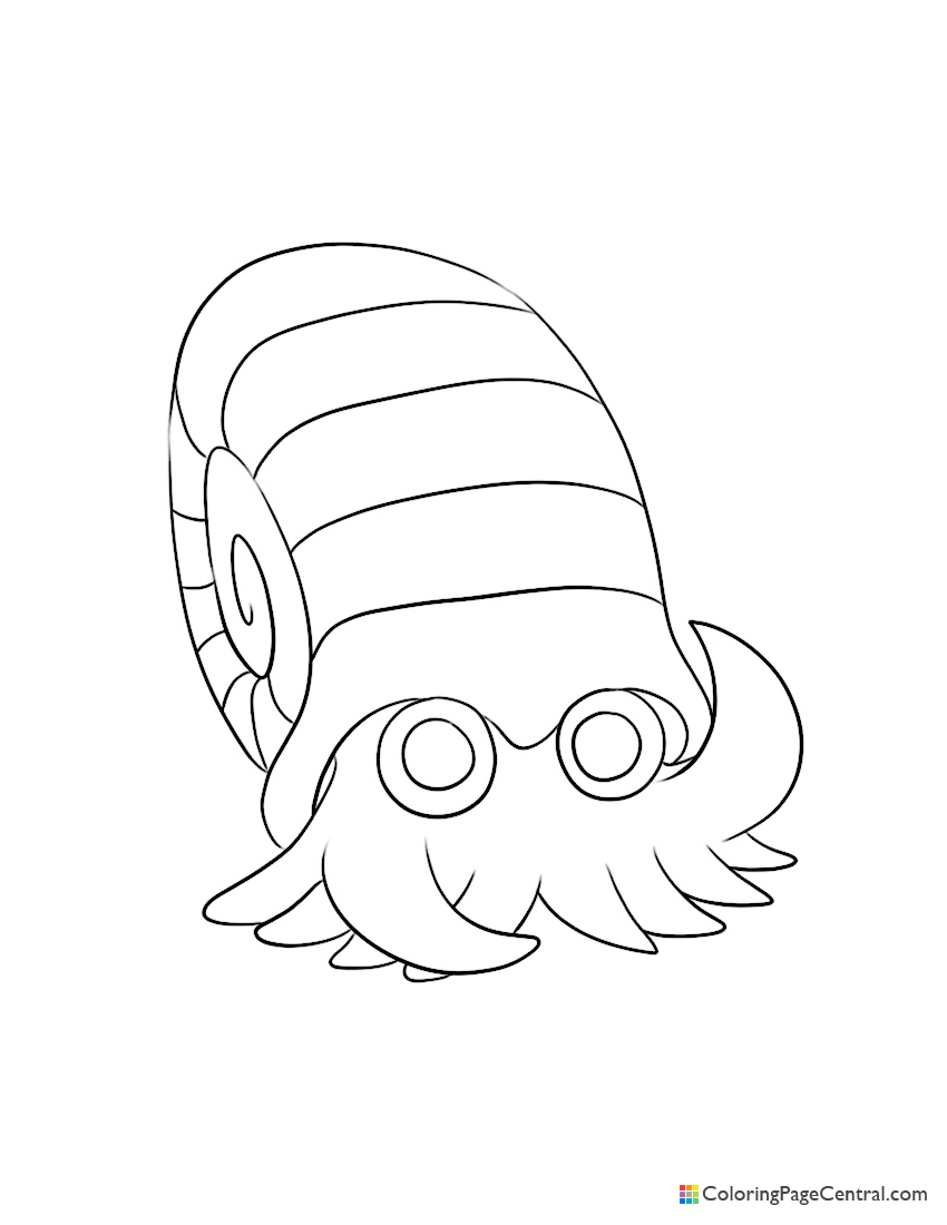 Pokemon - Omanyte Coloring Page