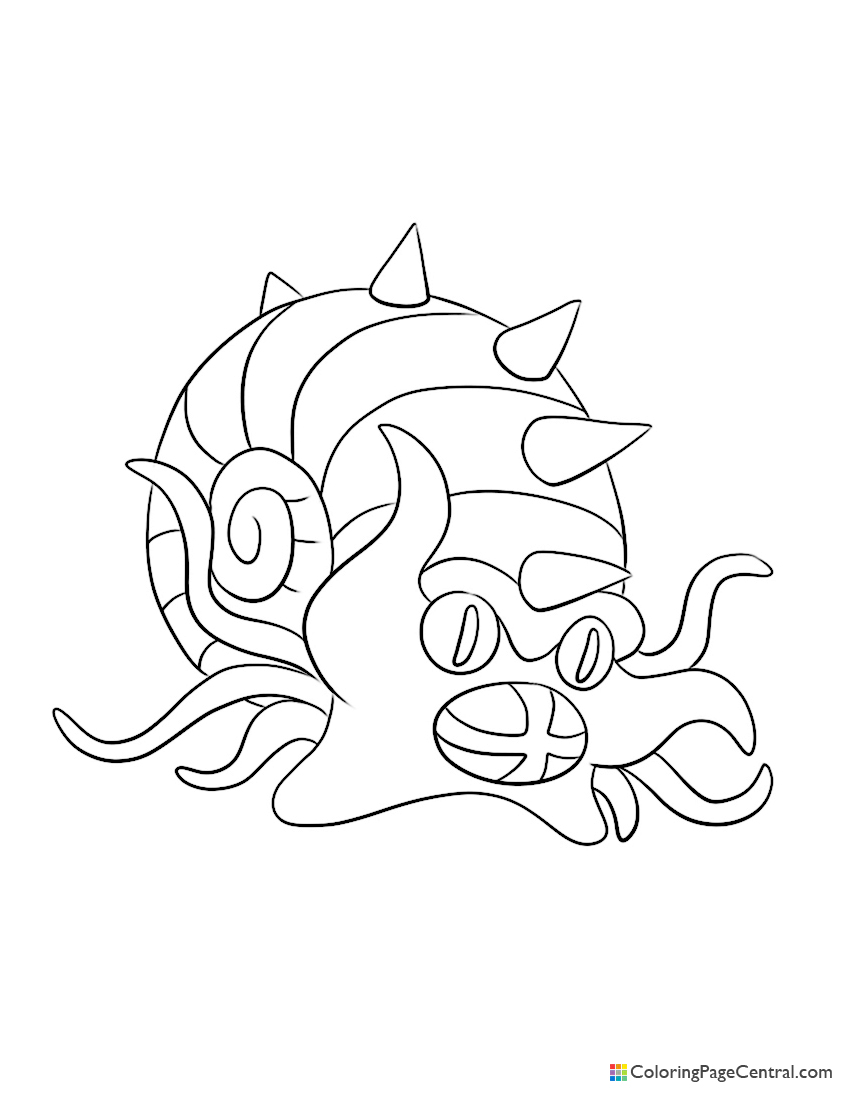 Pokemon - Omastar Coloring Page