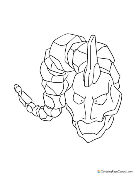 Pokemon – Onix Coloring Page
