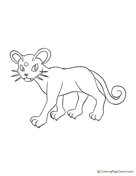 Pokemon – Persian Coloring Page