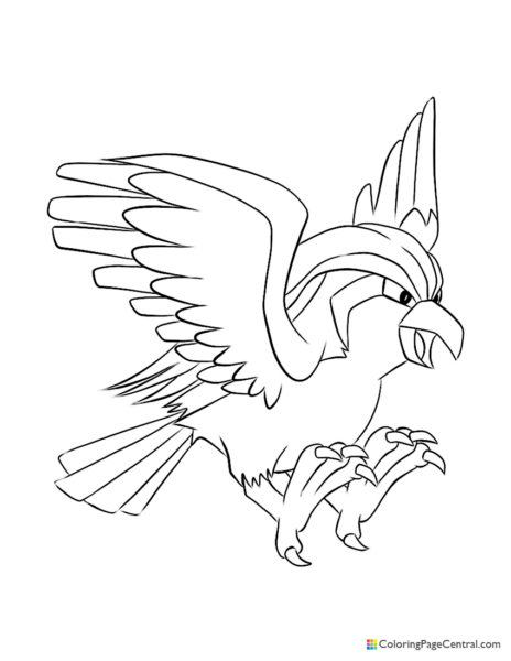 Pokemon - Pidgeot Coloring Page