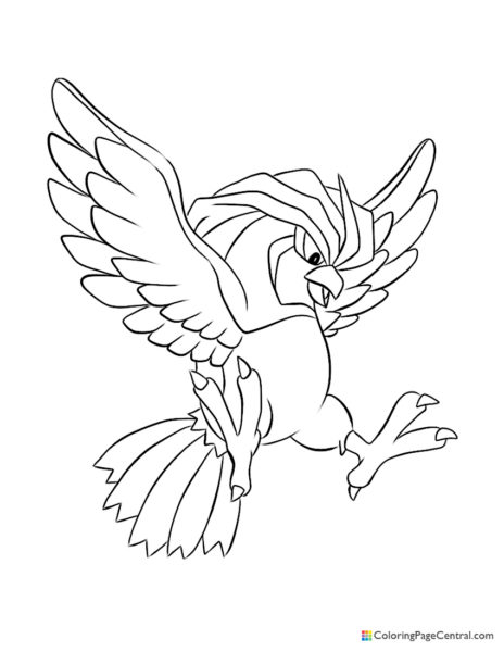 Pokemon – Pidgeotto Coloring Page