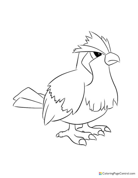 Pokemon – Pidgey Coloring Page