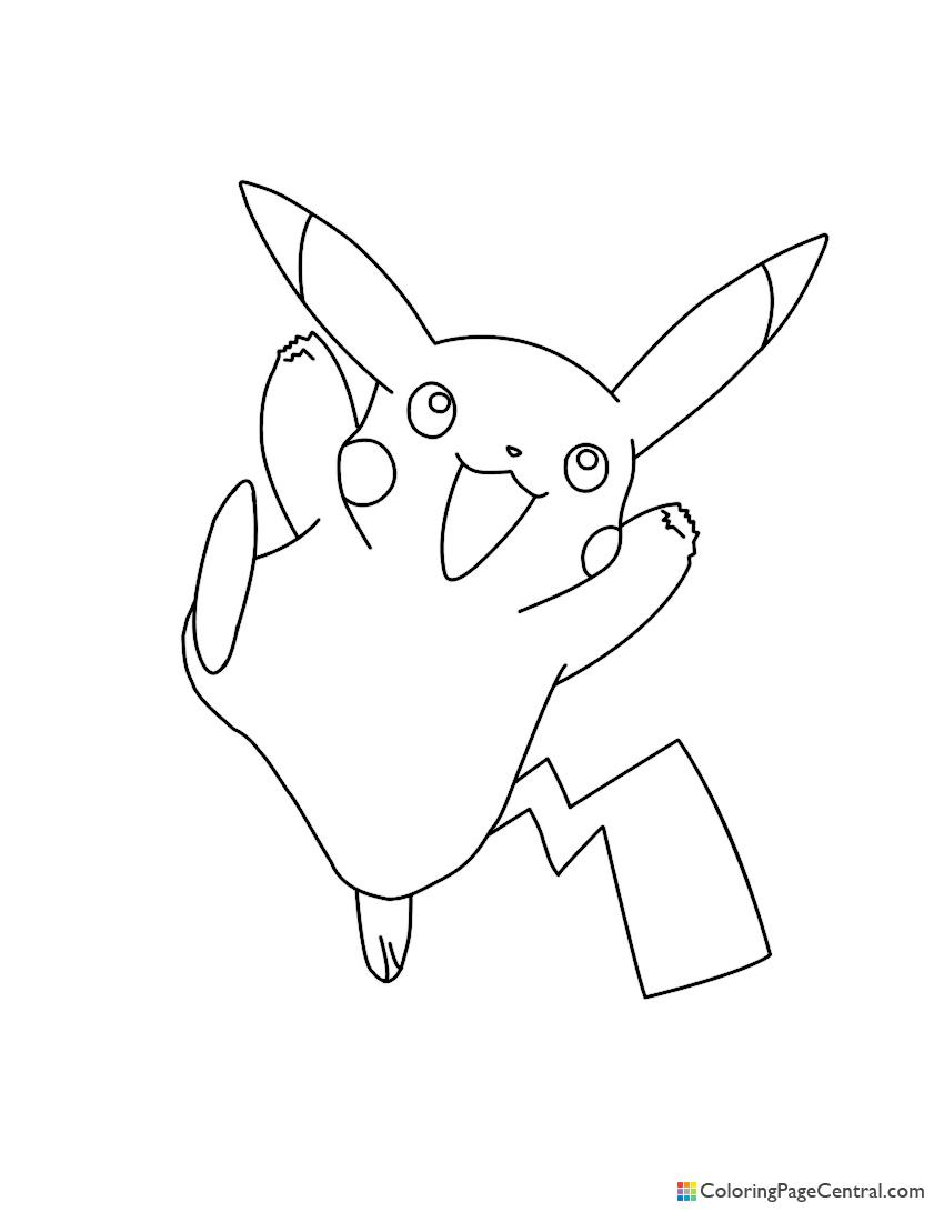 Pokemon - Pikachu 01 Coloring Page