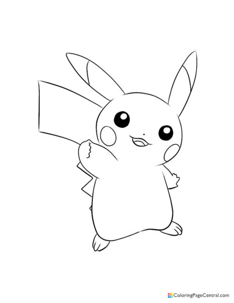 Pokemon – Pikachu 03 Coloring Page