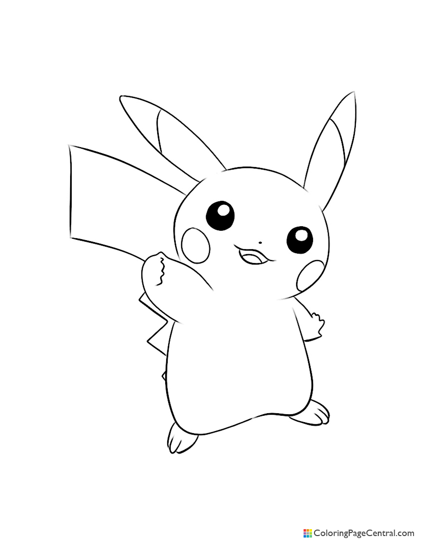 pokemon pikachu 03 coloring page coloring page central coloring page central