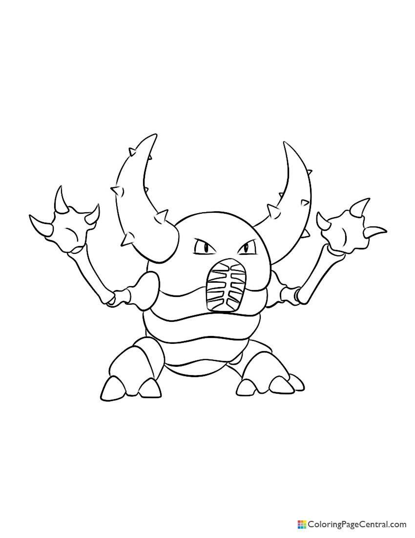 Pokemon - Pinsir Coloring Page