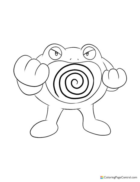 Pokemon – Poliwrath Coloring Page