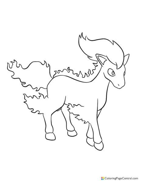 Pokemon – Ponyta Coloring Page
