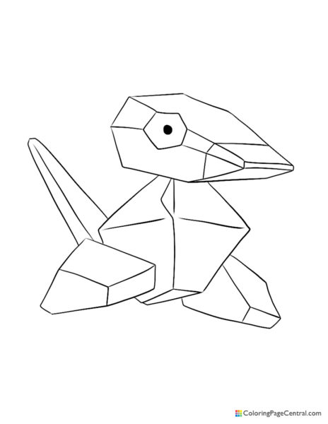 Pokemon – Porygon Coloring Page