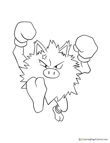 Pokemon – Primeape Coloring Page