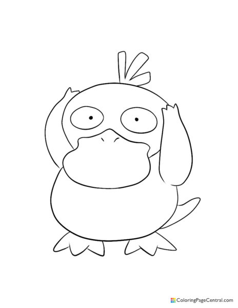 Pokemon – Psyduck Coloring Page
