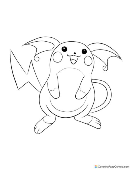Pokemon – Raichu Coloring Page