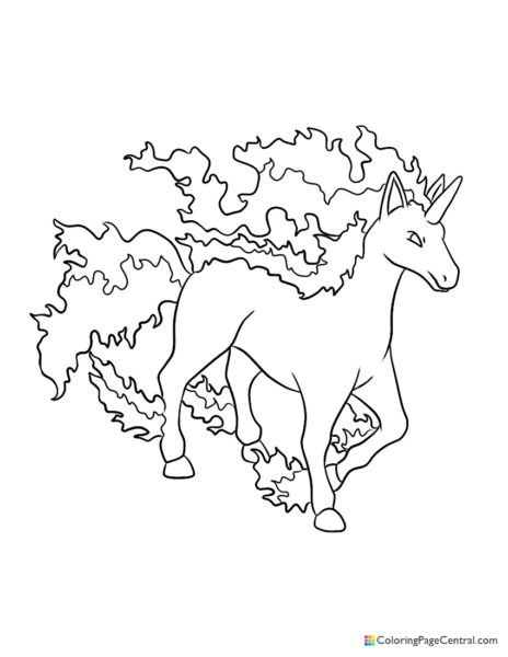 Pokemon – Rapidash Coloring Page