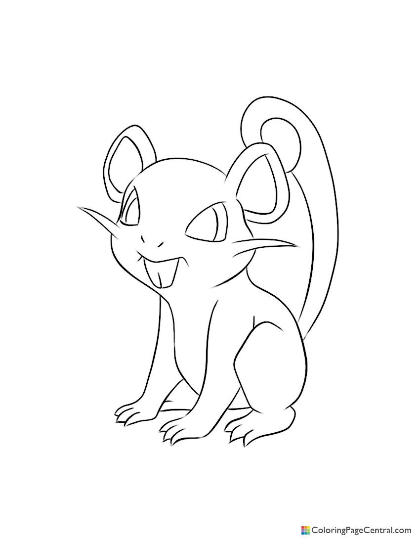 Pokemon - Rattata Coloring Page