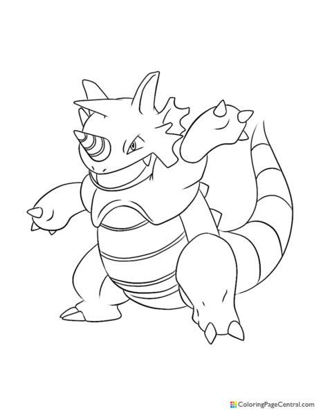 Pokemon – Rhydon Coloring Page