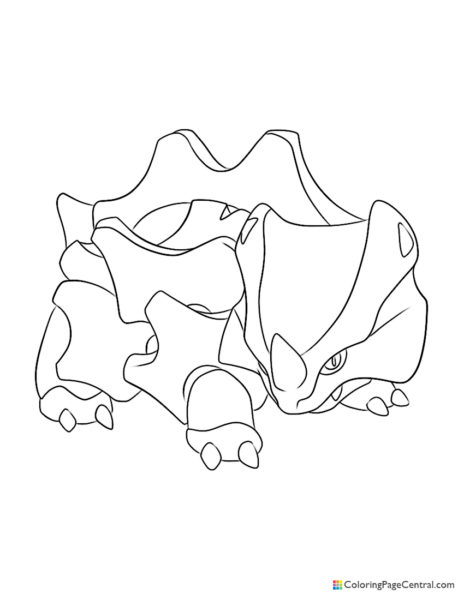 Pokemon – Rhyhorn Coloring Page