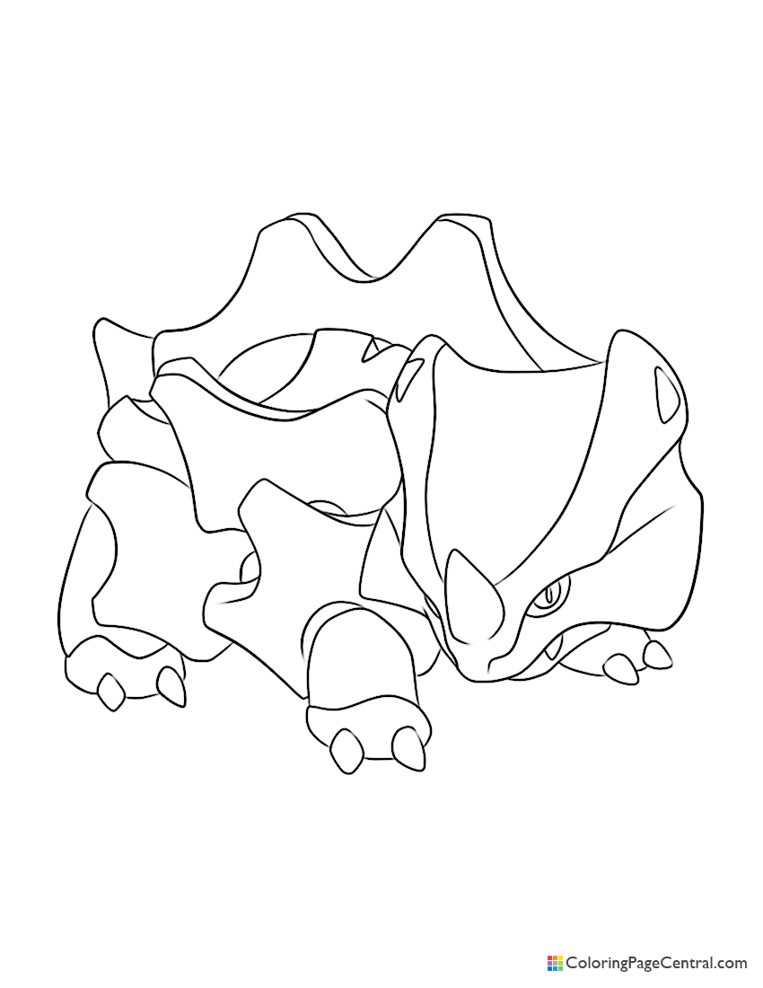 Pokemon - Rhyhorn Coloring Page