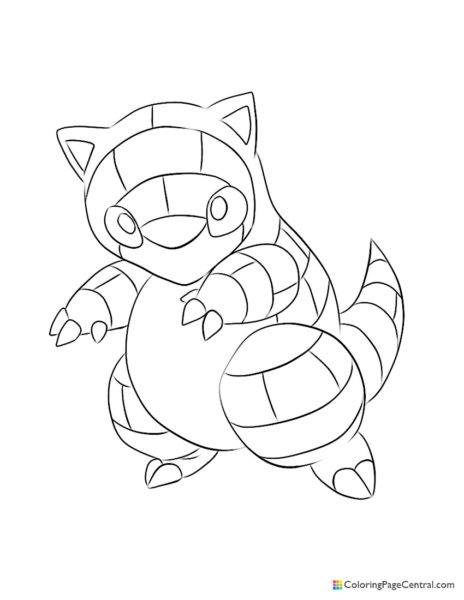 Pokemon – Sandshrew Coloring Page