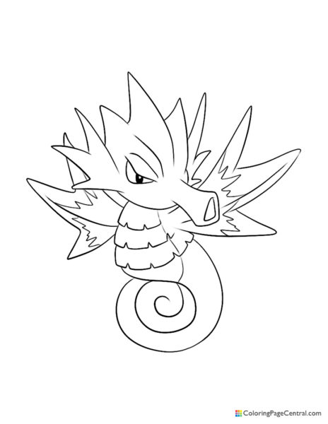 Pokemon – Seadra Coloring Page