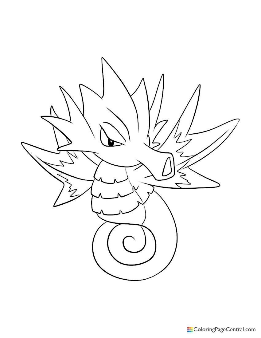 Pokemon - Seadra Coloring Page
