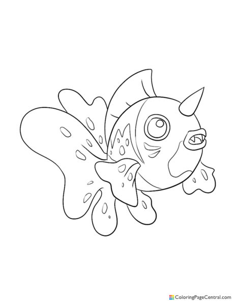 Pokemon – Seaking Coloring Page