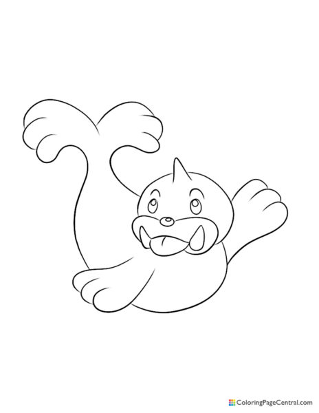 Pokemon - Seel Coloring Page
