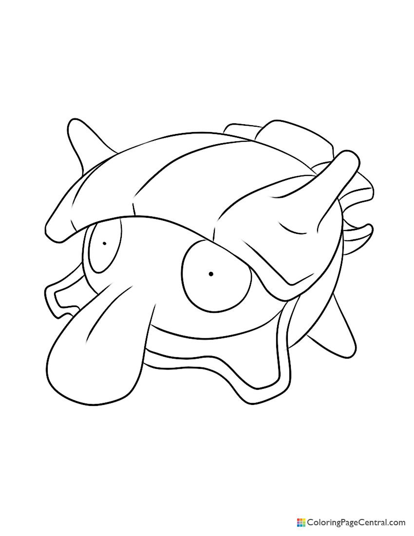 Pokemon - Shellder Coloring Page